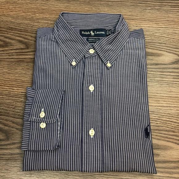 Polo by Ralph Lauren Other - Polo Ralph Lauren Navy w/ White Stripe Shirt L